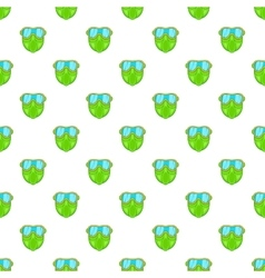Green paintball mask pattern cartoon style vector image