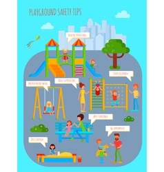 Playground Safety Tips Poster vector image