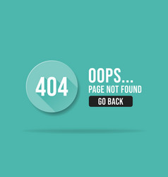 404 error page not found web page banner template vector image