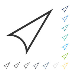 Arrowhead right up icon vector