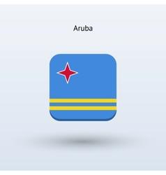 Aruba flag icon vector
