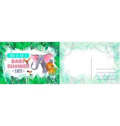 baby shower party card holiday card vector image