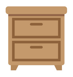 bedside table flat icon furniture and interior vector image