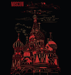 Black-red moscow vector
