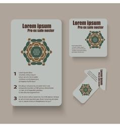 Brochures design for social infographic diagram vector image