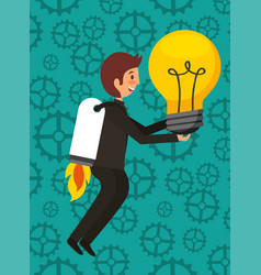 business people work vector image