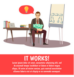 Business trainings background vector