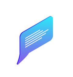 Chatting box bubble empty icon vector