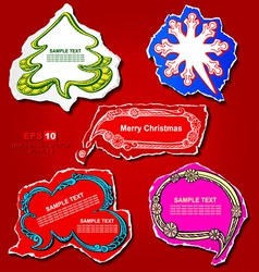 Christmas and New Year graphic speech bubbles vector image