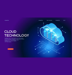 Cloud technology concept banner vector