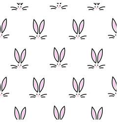 cute bunny seamless simple pattern rabbit head vector image