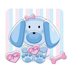 doggy love vector image
