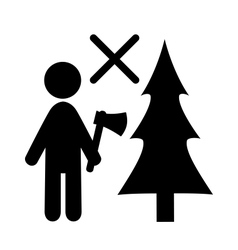 Don't Chop Christmas Tree vector image