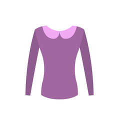 Female purple top with vintage rounded collar vector