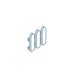 fence isometric icon 3d line art technical vector image