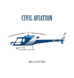 Figure civilian helicopter in flat style vector image