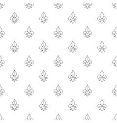 fleur de lis pattern seamless vector image