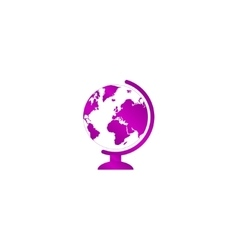 geography school earth globe web icon vector image
