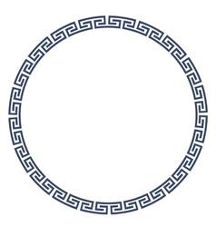 greek round frame for design vector image
