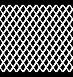 grid mesh lattice background with rhombus diamond vector image