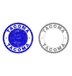 Grunge tacoma textured watermarks vector
