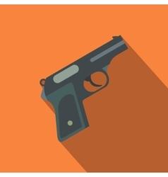 Gun flat icon vector image