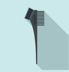 Hair dye professional brush icon flat style vector