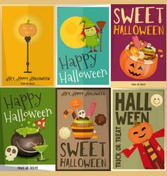 Halloween posters set vector