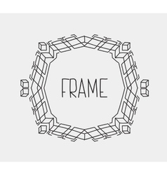 Hand drawn emblem abstract template Elegant linear vector image