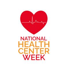 Health center week vector