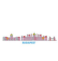 Hungary budapest line cityscape flat vector
