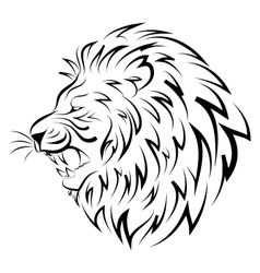 Isolated head of lion vector