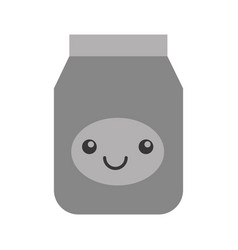 Kawaii jelly jar cartoon vector