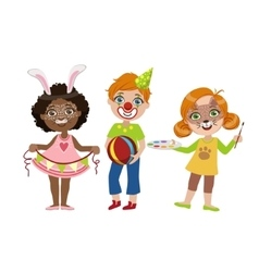 Kids With Funny Make Up vector