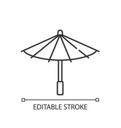 Korean umbrella linear icon vector