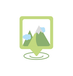 location mountains gps map and navigation vector image