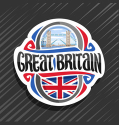 logo for great britain vector image