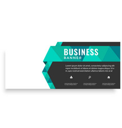 modern green ribbon design business banner vector image
