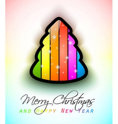 modern raonbow christmas vector image