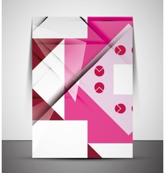 Multipurpose CMYK geometric print template vector image