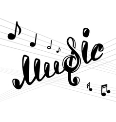 Music logo on white vector