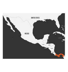 Panama orange marked in political map central vector