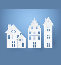 Paper silhouettes buildings vector