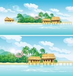 Paradise islands vector