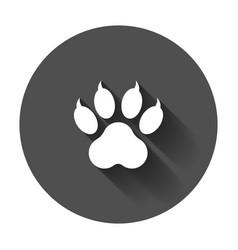 paw print icon dog cat bear symbol flat vector image