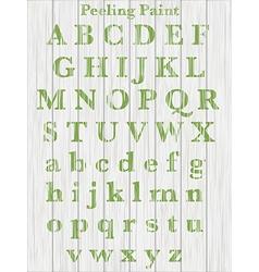 peeling paint text on wood vector image