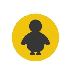 Penguine silhouette icon vector image