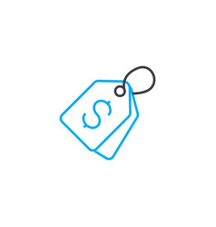 price tag thin line stroke icon price tag vector image