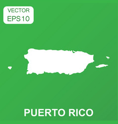 Puerto rico map icon business concept puerto rico vector