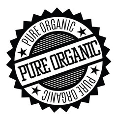pure organic stamp on white vector image